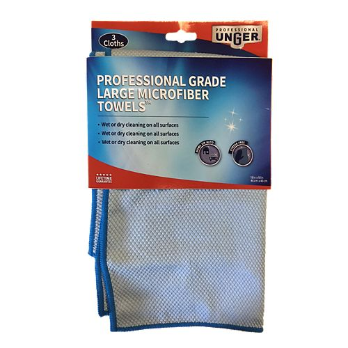 18-inch x 18-inch Professional Grade Large Microfiber Towels (3-Pack)