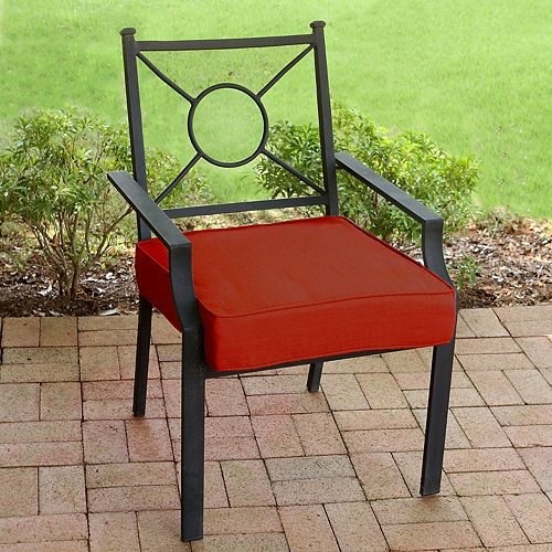Deluxe Patio Seat Cushion in Sunvalley Red