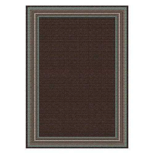 Hampton Bay Tapis Tributary Arnold, brun et multi,  6 pi 7 po x 9 pi 2 po