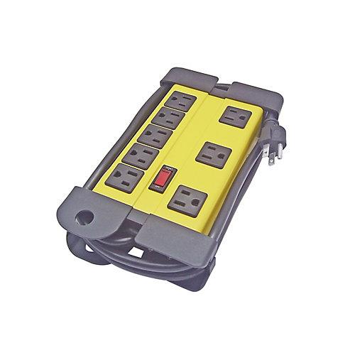 6FT SJT 14/3C 60C 8-Outlet Power bar