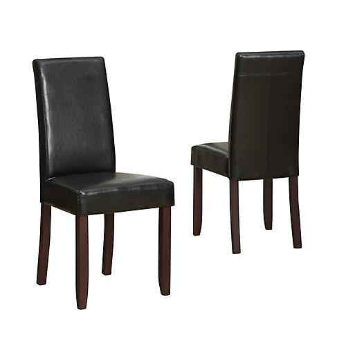 Acadian Acadian Parson Dining Chair in Black (Set of 2)