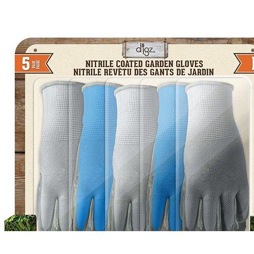 Gants enduits nitrile 5 paires Large