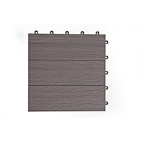 Carreau de terrasse Elite, 12 po x 12 po, gris Panama, couvrance de 6 pi2, 6/boîte