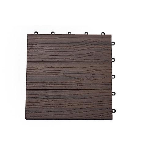 Carreau de terrasse Elite, 12 po x 12 po, Farrah exotique, couvrance de 6 pi2, 6/boîte