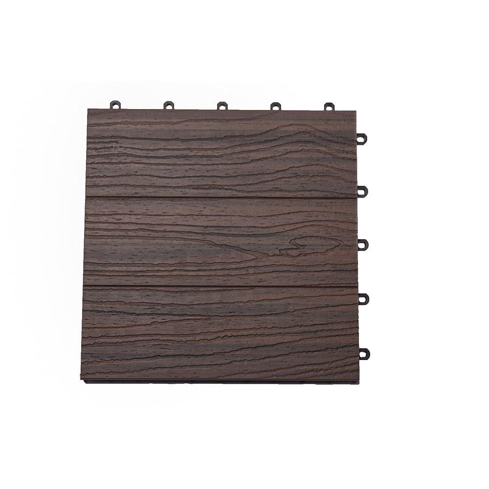 Veranda Carreau de terrasse Elite, 12 po x 12 po, Farrah exotique, couvrance de 6 pi2, 6/boîte