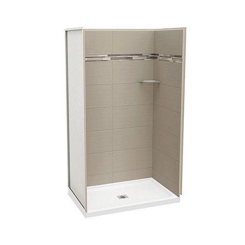 MAAX Utile 48 Inch Origin Greige Alcove Shower Kit
