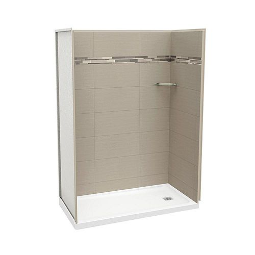 MAAX Utile 60 Inch Origin Greige Right Hand Alcove Shower Kit