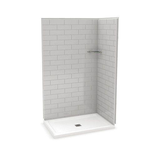 MAAX Utile 48 Inch Metro Soft Grey Corner Shower Kit
