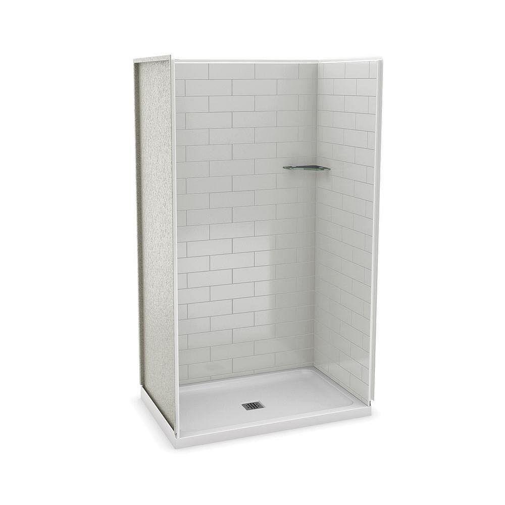 MAAX Utile 48 Inch Metro Soft Grey Alcove Shower Kit