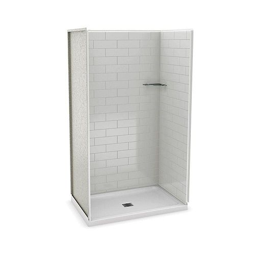 MAAX Utile 48 Inch Metro Soft Grey Alcove Shower Kit