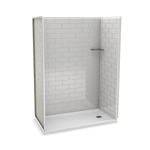 Utile 60 Inch Metro Soft Grey Right Hand Alcove Shower Kit