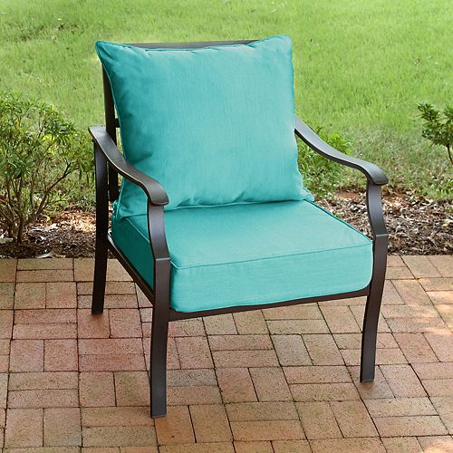 2-Piece Patio Deep Seating Set in Sunvalley Turquoise Mix
