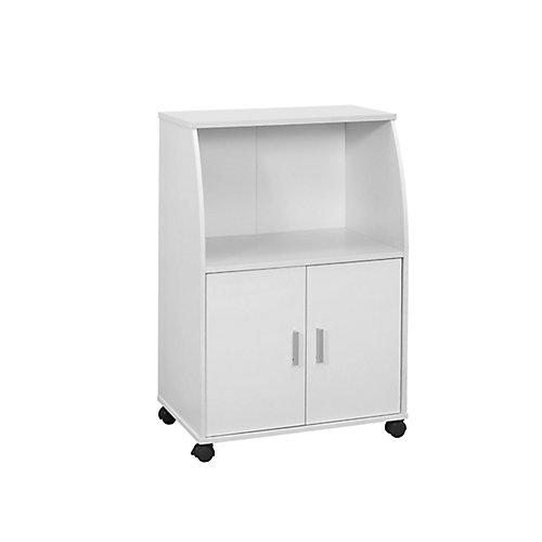 Kitchen Cart - 33 Inch H / White On Castors