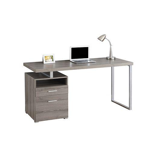 60-inch x 30-inch x 24-inch Standard Computer Desk in Grey