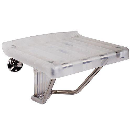 DreamLine SHST-01-PL Siège de douche Plastique transparent, 31 cm x 38 cm