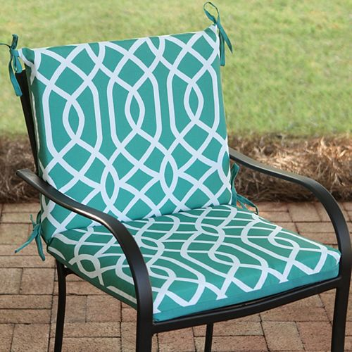 Mid-Back Patio Cushion in Coleman Geo