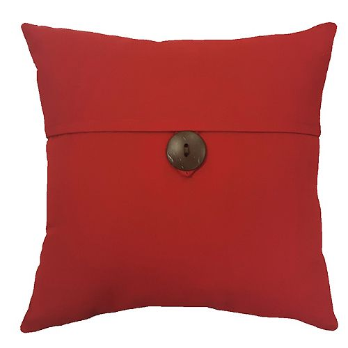 17-inch Pillow with Button in Sunvalley Red