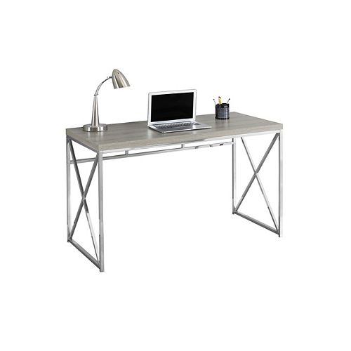 Bureau d'ordinateur standard, 47po x 30po x 24po, gris