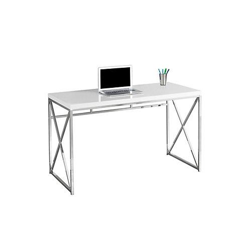 47-inch x 30-inch x 24-inch Standard Computer Desk in White
