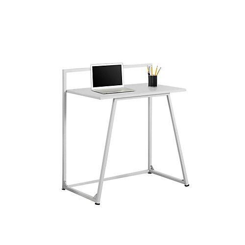 Bureau d'ordinateur standard, 30po x 34po x 18po, blanc