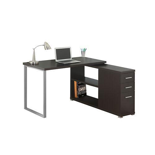 47-inch x 30-inch x 47-inch Standard Computer Desk in Black