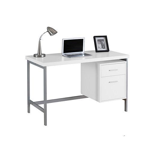 47-inch x 31-inch x 24-inch Standard Computer Desk in White