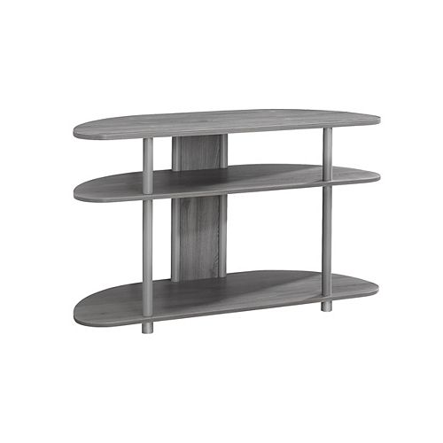Tv Stand - 38 Inch L / Grey With Silver Accent