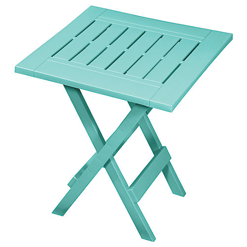 Folding Patio Side Table in Teal
