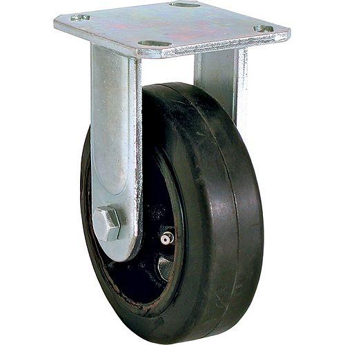 Everbilt Roulette rigide en caoutchouc moulé de 5 po avec capacité de charge de 330 lb