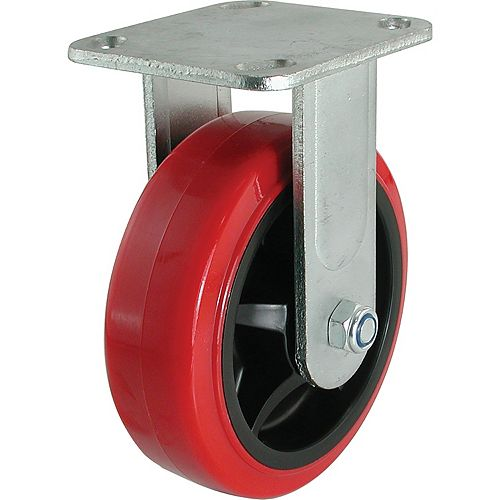 8 inch Polyurethane Rigid Caster with 900 lb. Load Rating