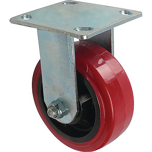 5 inch Polyurethane Rigid Caster with 750 lb. Load Rating