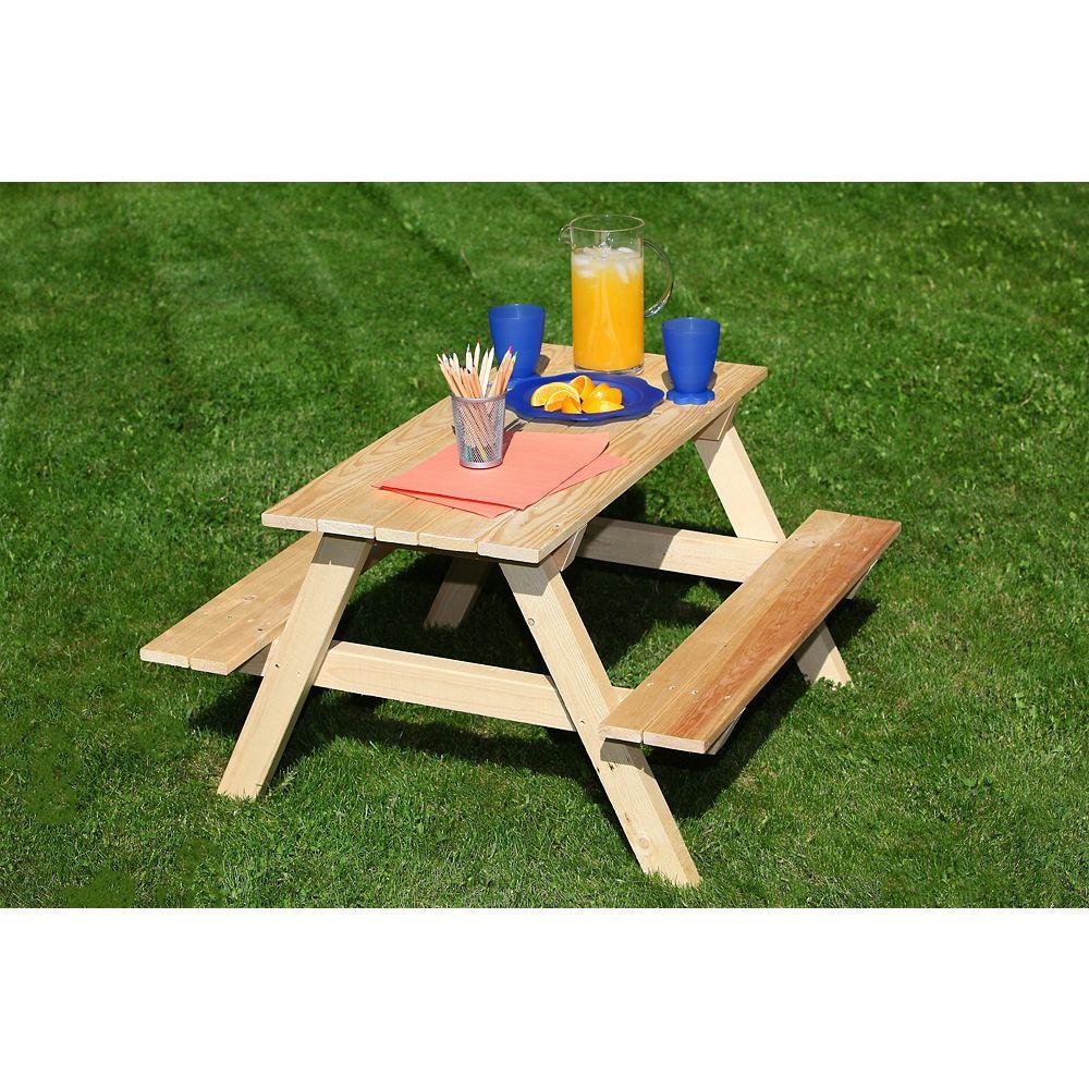 Adwood Manufacturing Ltd 36-inch L Kids' Patio Picnic Table