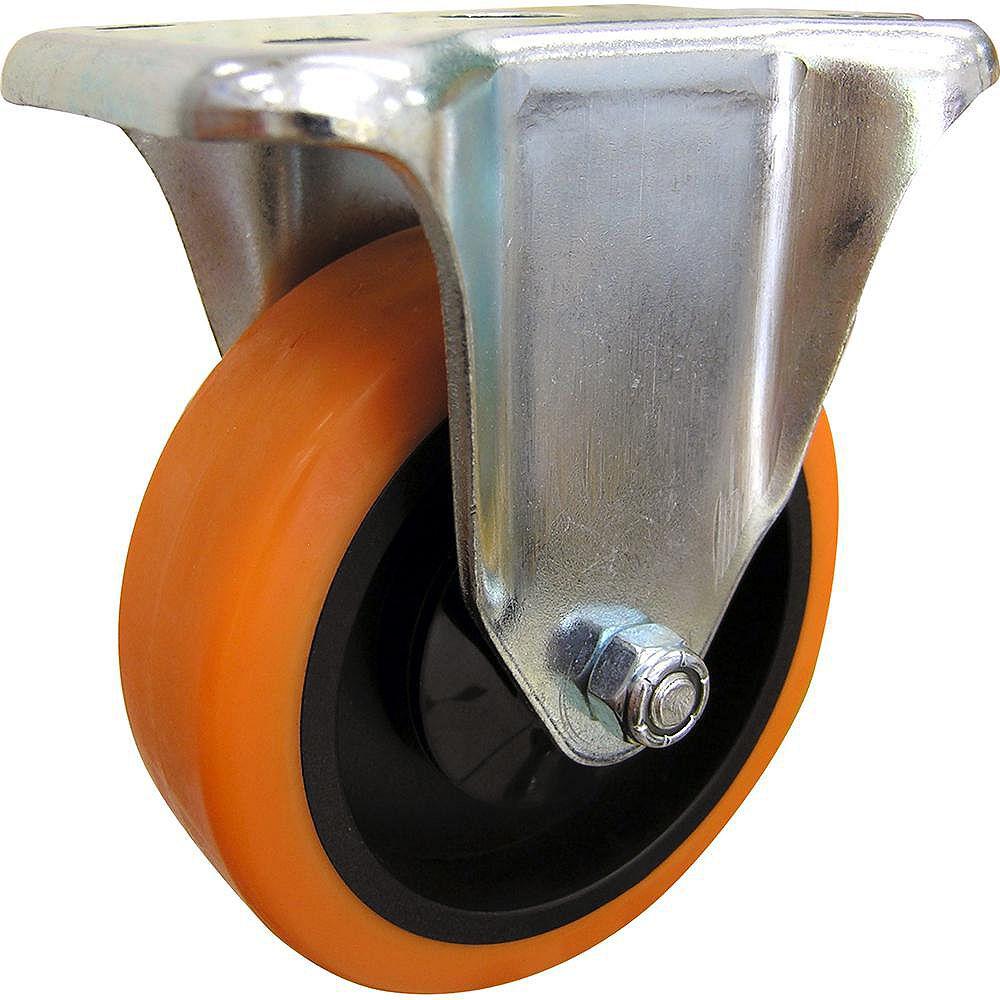 Everbilt 4 inch Orange TPU Rigid Caster with 300 lb. Load Rating