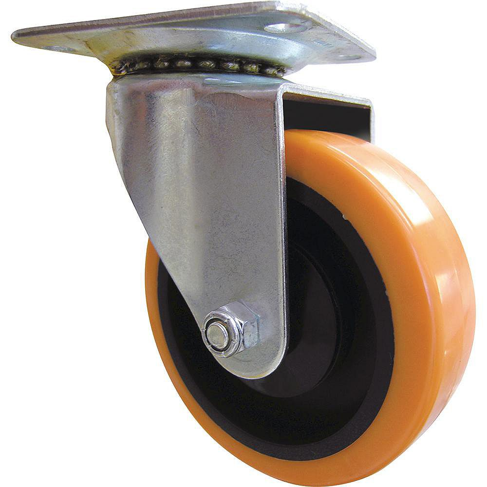 Everbilt 4 inch Orange TPU Swivel Caster with 300 lb. Load Rating