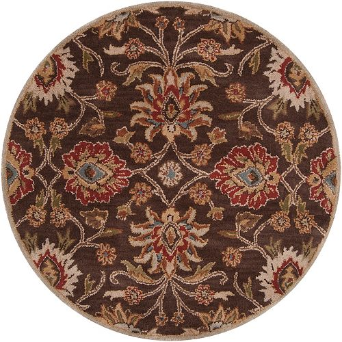 Cambrai Brown 9 Feet 9 Inch x 9 Feet 9 Inch Round Indoor Area Rug