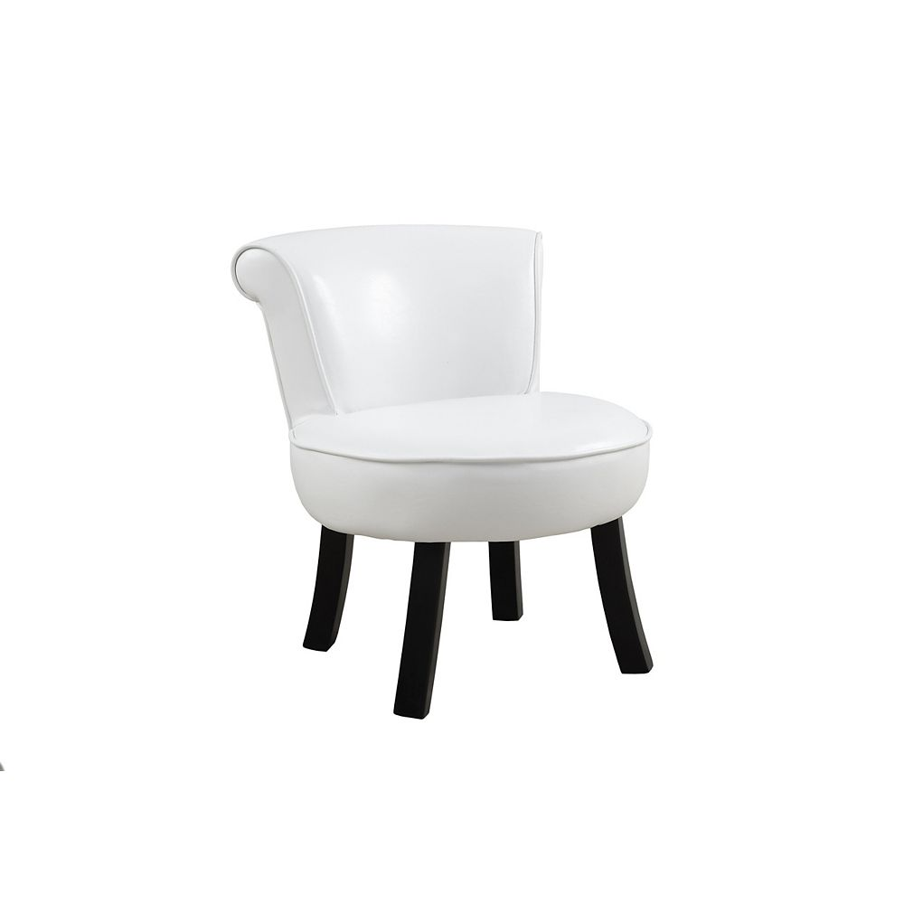 Monarch Specialties Juvenile Chair - White Leather-Look