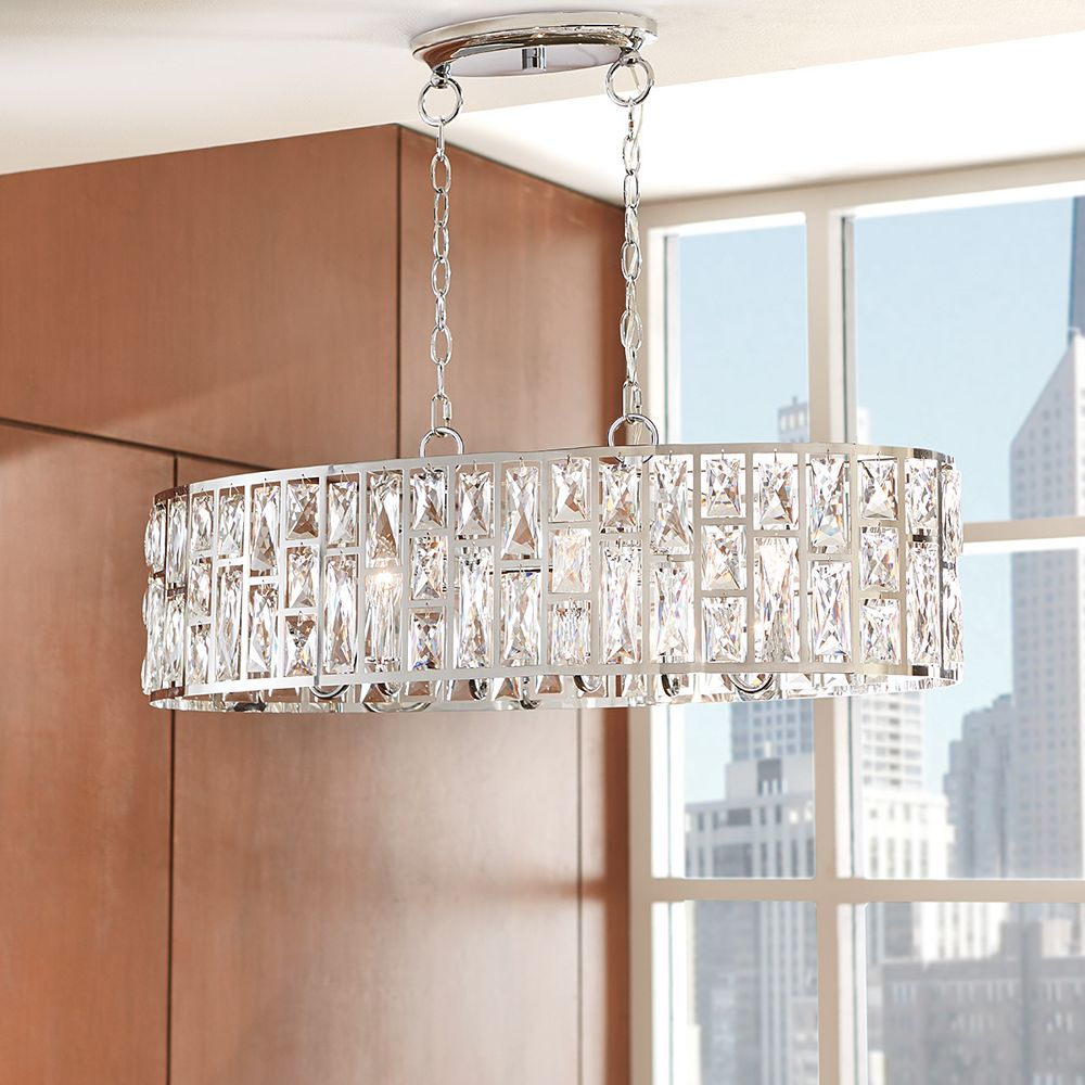 Kristella 32 Light Chrome Chandelier with Crystal Accented Shade