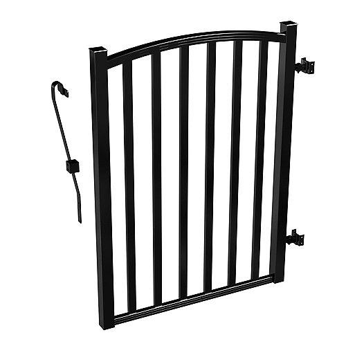 Barrière de clôture de cour arrière AquatinePLUS en aluminium - noir - 3 pi de largeur x 4 pi de hauteur