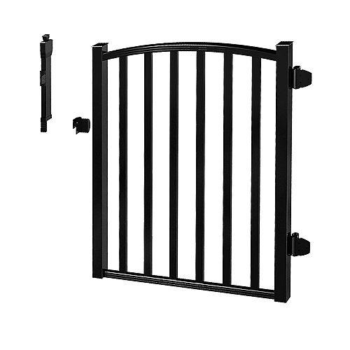 Peak Products Barrière pour clôture de piscine AquatinePLUS en aluminium - noir - 3 pi de largeur x 4 pi de hauteur