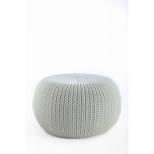 Cozy Seat Patio Chair in Smokey Light Grey