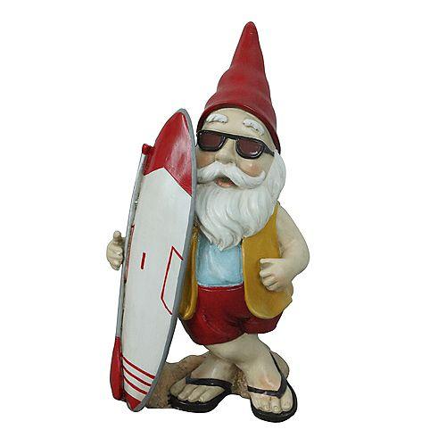Angelo Décor Statue gnome avec planche à pagaie