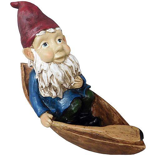 Angelo Décor Statue gnome en canoë