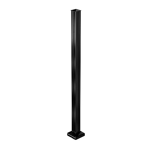 AquatinePLUS 4 ft. Hard Surface Pool Fence Post- Black