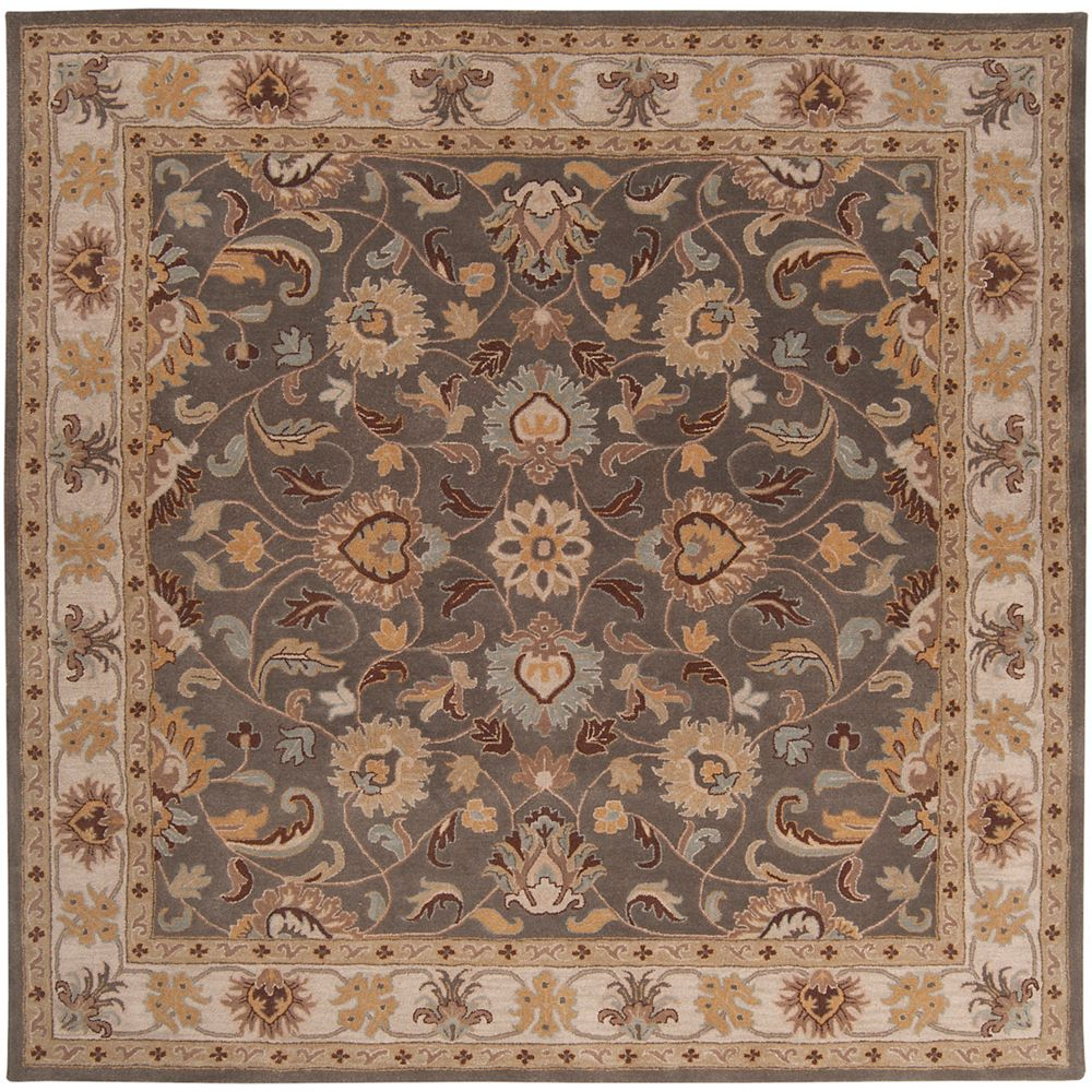 Artistic Weavers Chaka gris fonce 9 ft. 9 in. X 9 ft. 9 in. carre tapis interieur