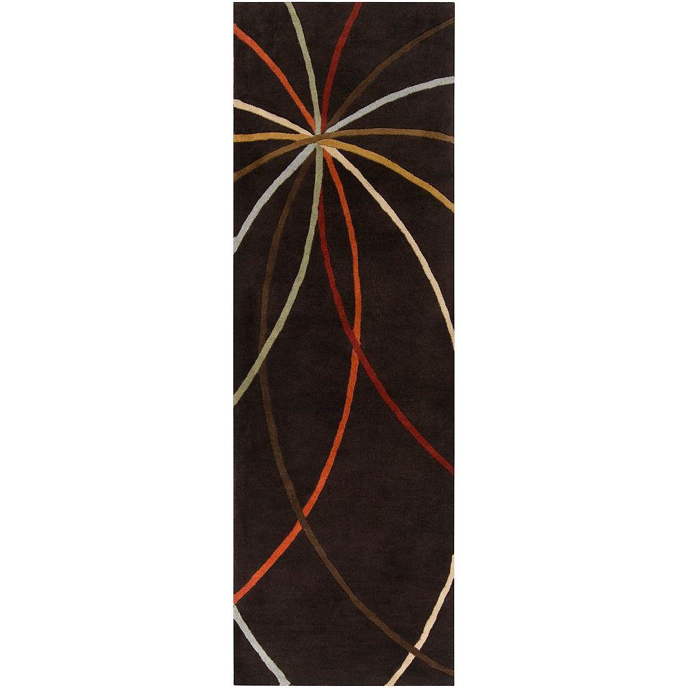Artistic Weavers Obihiro Black 2 Feet 6 Inch x 8 Feet Indoor Runner
