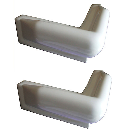 Corner Dock Bumpers, White