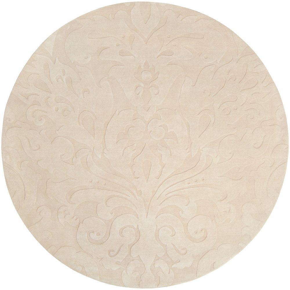 Home Decorators Collection Milton beurre 8 ft. X 8 ft. rond tapis interieur