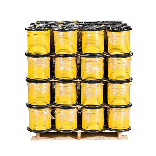 Romex SIMpull NMD90 Copper Electrical Cable - 12/2 Yellow 150m - 48 Spools Pro Contractor Pallet