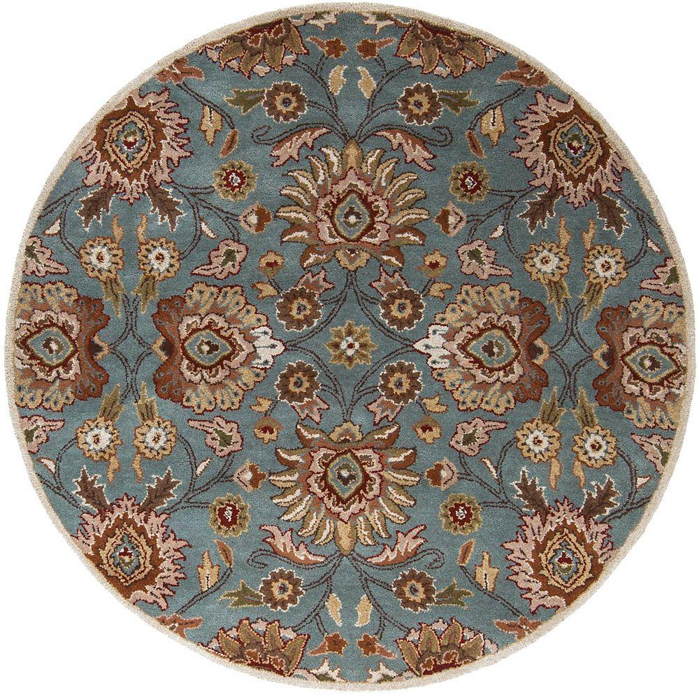 Artistic Weavers Cambrai bleu 8 ft. X 8 ft. rond tapis interieur