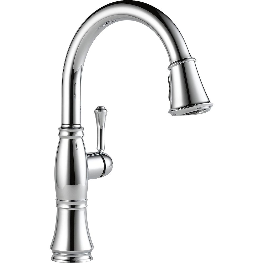 Delta Single Handle Pull Down Kitchen Faucet, Chrome